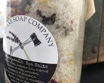 Lavender Bath Soak/calming bath soak/natural bath soak/made in Michigan