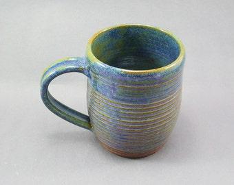 Pottery Coffee Mug Rutile Blue CHUN26