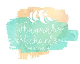 Premade Customizable Watercolor Logo - The Hannah - Business Cards - Blog - Marketing - Branding