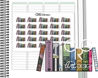 Row of Books Stickers | Planner Erin Condren Plum Planner Filofax Sticker