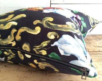 """Haute Couture pillow cover, """"Marécage"""", Size: 22"""" x 22"""""""