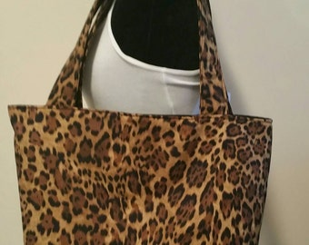 FREE SHIPPING, Cheetah Print Tote Bag, Tote bag, Cheetah print purse, handbag, animal print tote, cheetah print
