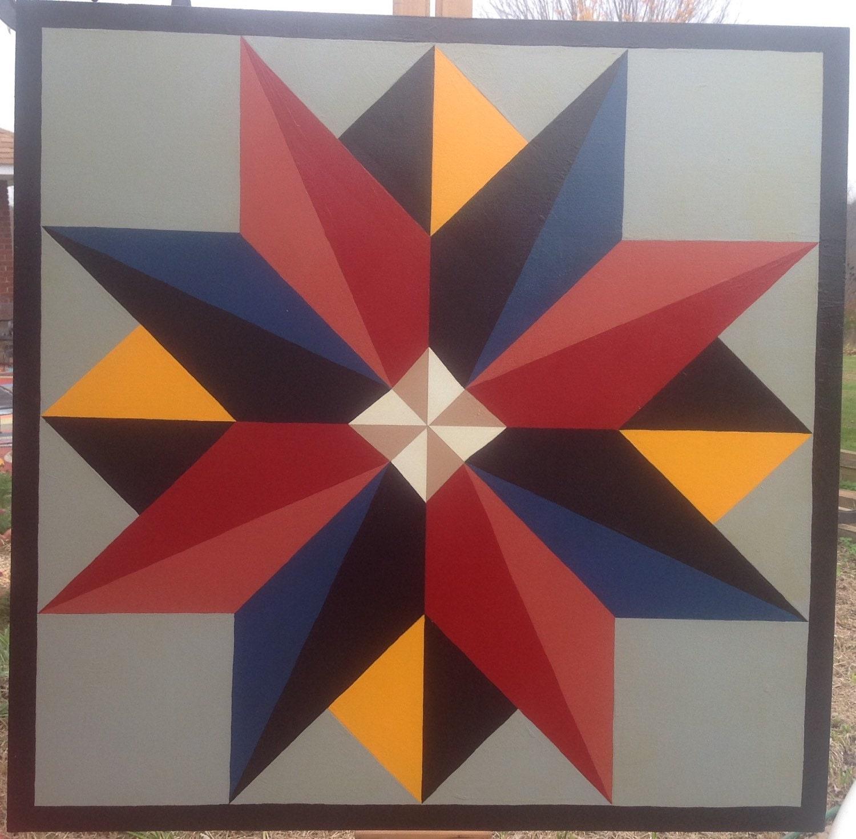 Multi Point Star 36 X36 Barn Quilt