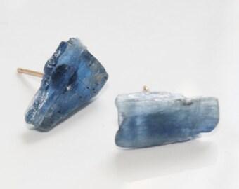Blue Kyanite Studs
