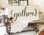 Gather, 2x4 Hand Painted ...
