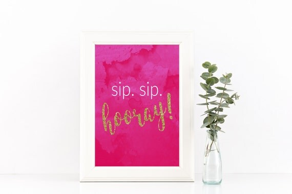Modest image with sip sip hooray printable