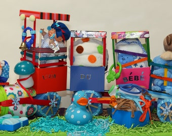The train of the baby, baby shower, newborn baby, mother-to-be, layer, baby, baby, decorative box accessories, Doggie clothing