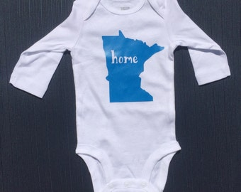 "Solid MN ""Home"" Onesie"