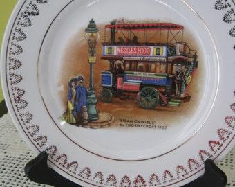 "Vintage decorative plate ""Steam Omnibus"" / Vintage Decorative plate ""Steam Omnibus"""