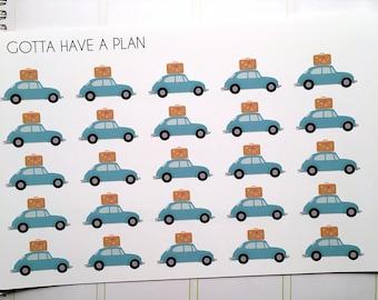 Planner Stickers Road Trip for Erin Condren, Happy Planner, Filofax, Scrapbooking