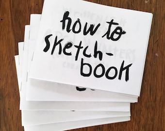 how to sketch-book zine