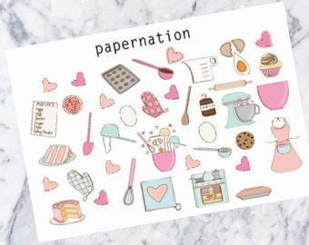 Baking //Planner Stickers