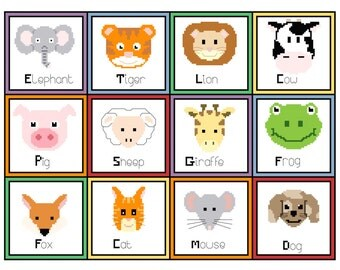 Nursery Animal PDF Cross Stitch Chart*** Special Offer ***