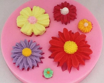 Daisies, silicone cake mold, baking mold, baking tools, chocolate mold, fondant mold, cake decoration mold.