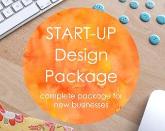 Start-Up Design Package - brand identity, business stationery, social media design, website design and development. Custom made to order