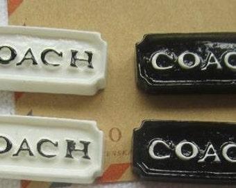 4 Pieces Black & White Cabochons - Kawaii Decoden Flatback Resin (TDK-C1362)