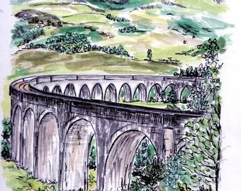 Postcard, Glenfinnan Viaduct, Scotland, Harry Potter