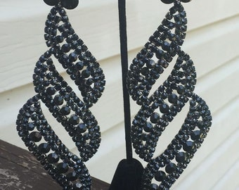 extra long gold chandelier earrings extra large pageant