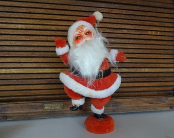 Flocked Santa from the late 50's, early 60's