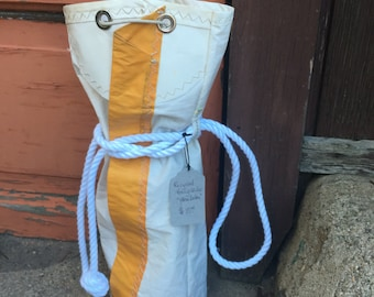 Vintage Sail Beach Bag Recycled Sobstad Sail