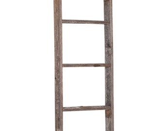 BarnwoodUSA Rustic Reclaimed Picket Ladder