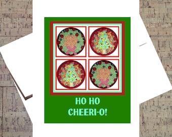 Funny Christmas Card, Funny Holiday Card, Christmas Tree Card, Humor Card, Cereal, Funny Card, Xmas Card