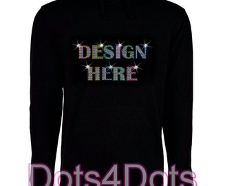 Women's Bling Hoodie Sequins Glitter sweatshirt Custom Made