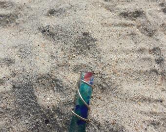 Sea Glass wrapped pendant