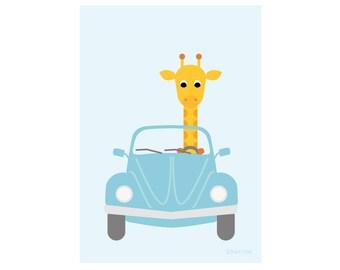 Poster Giraffe in Beetle