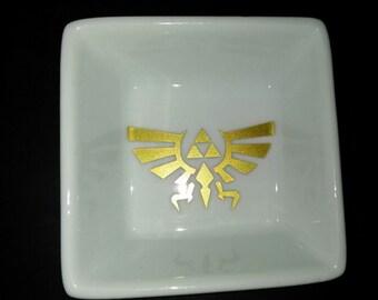 Zelda Ring Dish - Triforce Ring Dish - Hyrule Love - Ring Trinket Dish - Zelda Ring Dish - Zelda wedding - Gamers - Love - True Love