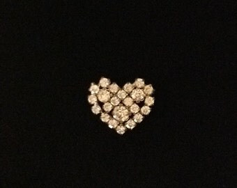 Bling Crystal Heart Pin Costume Jewelry Mothers Day Gift FREE SHIPPING