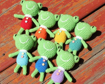 Crochet Doll Keychains - Swimming Frog