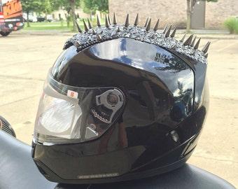 Custom Women's Motorcycle Helmet with Spikes