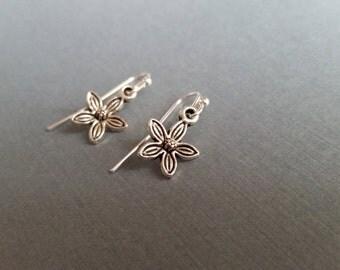 Silver Flower Drops