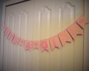 It's a Girl Paper Garland, Birthday Party, Baby Shower Decor, Sweetheart Garland, Party Decorations, Gender Reveal