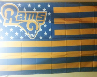 Los Angeles Rams, Rams Nation Flag or Banner 3' x 5'