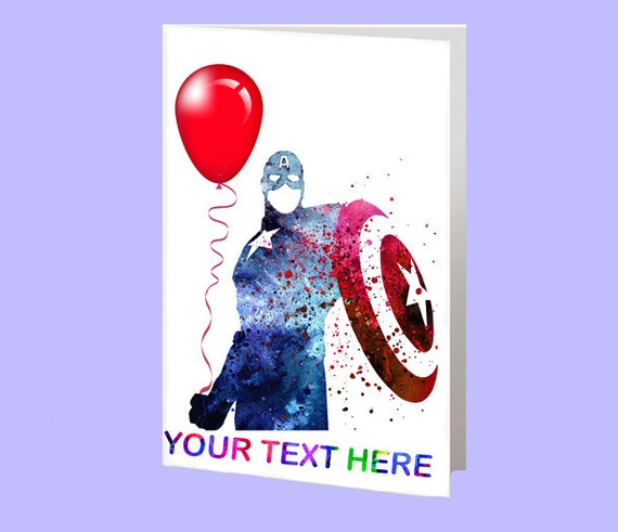 Image for Captain America Diy Birthday Cards
