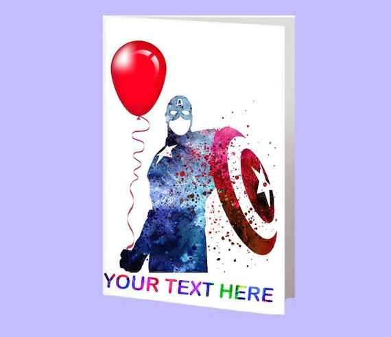 Captain America Diy Birthday Cards