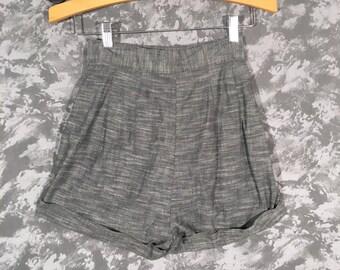 1950's High Waisted Grey Shorts