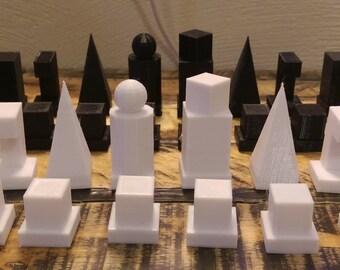 Minimalist Bauhaus Model I 1922 Chess Set (3D Printed)