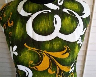 Vintage Hawaii dress, vintage floral dress, vintage dress, vintage hawaii, vintage gown, floral long dress