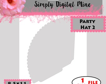 YOU Design!!! Party Hat #2  Templates!!