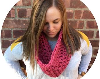 Crochet Chunky Cowl - Pink