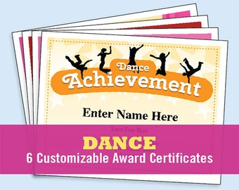 Dance Certificate Pack, Dancing Awards, Dance Team Printables, child certificates, Dance templates, dancing certificates, Best Seller