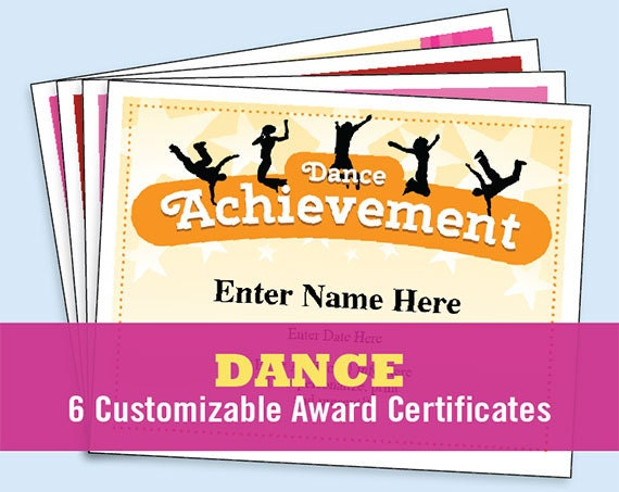 Dance Certificate Pack Dancing Awards Dance Team Printables