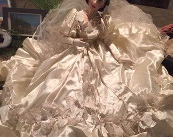 Doll, Porcelain Doll, Scarlet O'Hara Bride Doll, Franklin  Mint Scarlet O'Hara Bride Doll