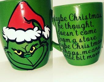 Personalizable Grinch mug
