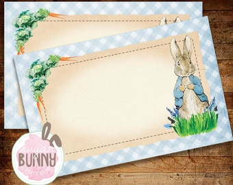 INSTANT DOWNLOAD Peter Rabbit Party Label Tents Printable DIY