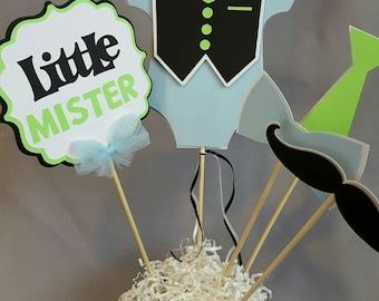 Little Mister Centerpiece-Little Mister Baby Shower Centerpiece-Little Mister Centerpiece-Little Mister Birthday Boy Baby Shower Centerpiece