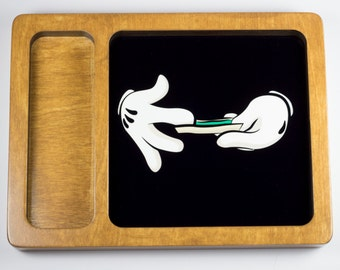 Mickey rolling weed rolling tray printed with scratch and heat resistant ink - cannabis, potleaf, 420, weed